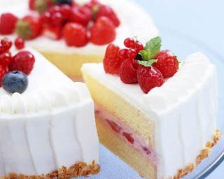 Ahududu İle Yaş Pasta