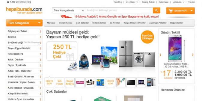 Türkiyenin En Sevilen Alışveriş Siteleri